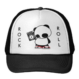 Panda do rock and roll boné
