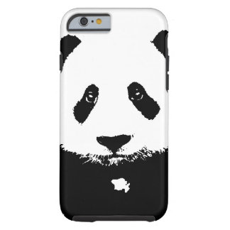 Panda preta & branca capa tough para iPhone 6