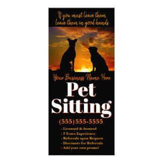 Panfleto Assento do animal de estimação. Propaganda feita