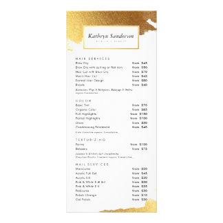 Panfleto Bordas douradas modernas luxe do ouro da TABELA DE
