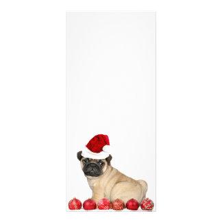 Panfleto Cão do pug do Natal