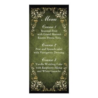 Panfleto Casamento decorativo régio rústico do verde e do