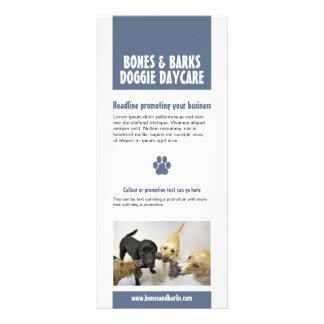 Panfleto Cuidado azul do cão do impressão da pata