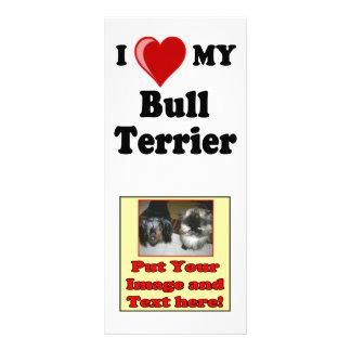 Panfleto Eu amo (coração) meu cão de bull terrier