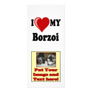 Panfleto Eu amo (coração) meu cão do Borzoi