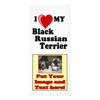 Panfleto Eu amo (coração) meu cão preto de Terrier do russo