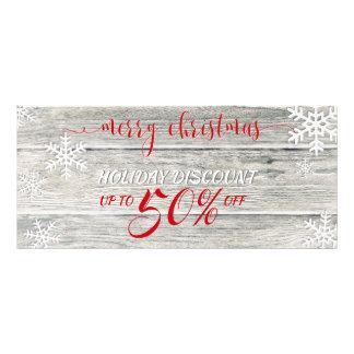 Panfleto Flocos de neve de madeira rústicos do Natal -