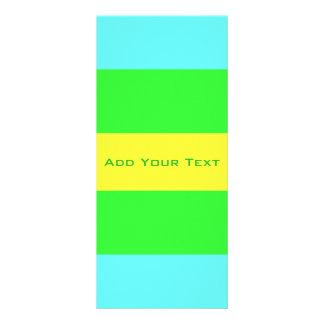 Panfleto Listras largas amarelas, verdes, azuis por Shirley