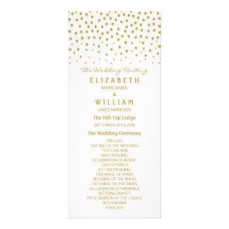 Panfleto Programa do casamento das bolinhas do ouro
