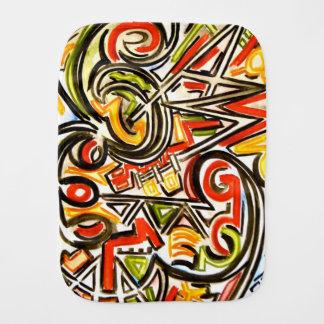 Paninho De Boca Arte abstracta pintada Borboleta-Mão emergente