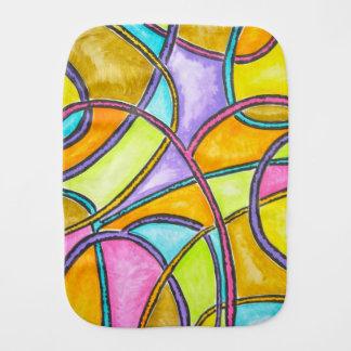 Paninho De Boca Weave da cor - arte abstracta pintado mão