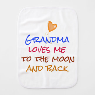 Paninho Para Bebês A avó ama-me às citações da lua e da parte