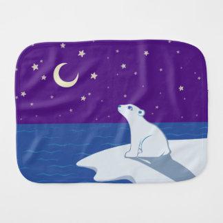 Paninho Para Bebês Arte Stargazing de Cub de urso polar