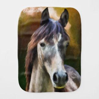 Paninho Para Bebês Bebê do nome da pintura do retrato do cavalo de