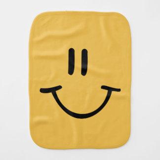 Paninho Para Bebês Cara feliz amarela