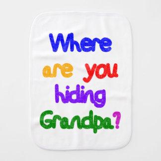 Paninho Para Bebês De onde você está escondendo o vovô?