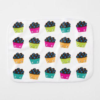 Paninho Para Bebês Pano colorido do Burp dos muffin de Kawaii