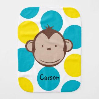 Paninho Para Bebês Pano do Burp do menino do macaco da modificação