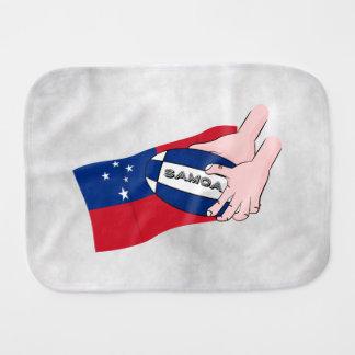 Paninho Para Bebês Passagem da bola de rugby da bandeira de Samoa