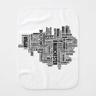 Paninho Para Bebês Tipo preto mapa de maior Manchester