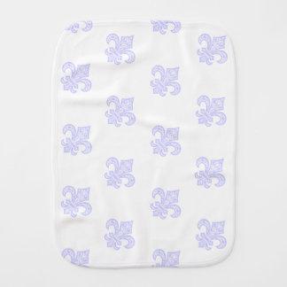 Pano De Boca Branco/lavanda de pano do Burp do bébé™ da flor de