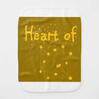 Pano De Boca coração presente do equipamento do bebê do ouro do