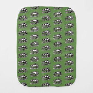 Pano De Boca DINO - pano do Burp do verde de musgo