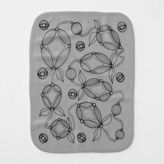 Pano De Boca Linha floral design do vagem da arte