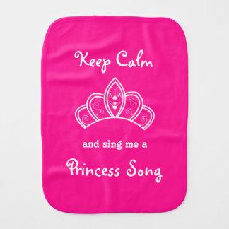 Pano De Boca Mantenha a calma para cantar-me uma princesa