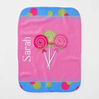 Pano De Boca Pano cor-de-rosa do Burp do bebê do açúcar e da