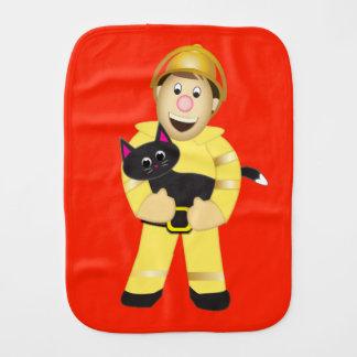 Pano De Boca Pano do Burp do bombeiro dos desenhos animados