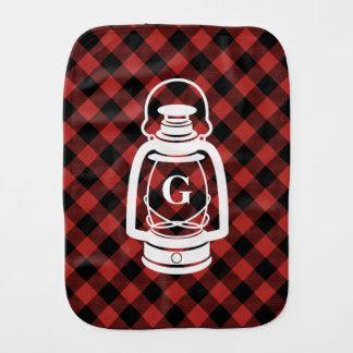 Pano do Burp da lanterna do óleo da xadrez do Fraldinha De Boca