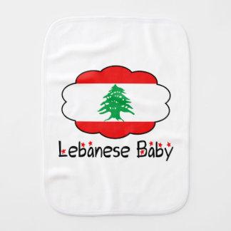 Pano libanês do Burp do bebê da bandeira Paninho De Boca