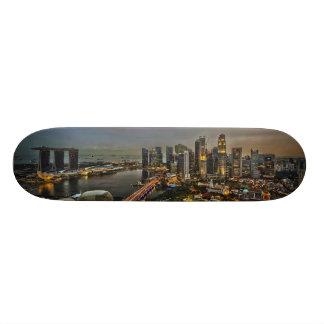 Panorama da skyline da cidade de Singapore do cais Shape De Skate 18,7cm