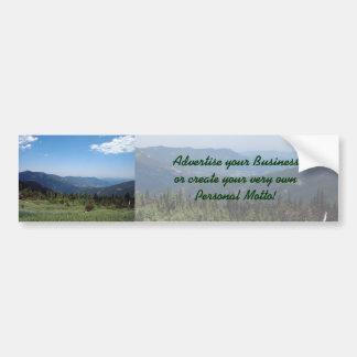 Panorama das montanhas rochosas de Colorado Adesivo De Para-choque