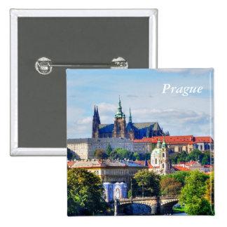 Panorama do castelo de Praga Bóton Quadrado 5.08cm