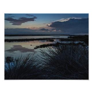Pantanais de Bolsa Chica na cópia do nascer do sol Impressão De Foto