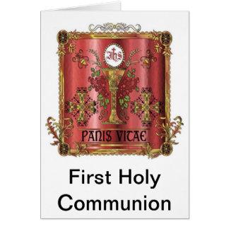 Pão cartão do comunhão da vida do primeiro