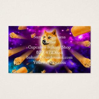 pão - doge - shibe - espaço - uau doge cartão de visitas
