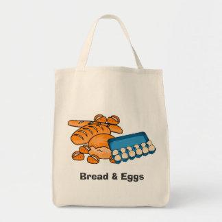 Pão & mantimento dos ovos/saco (frágeis) do mercad bolsa tote