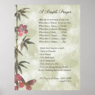 PAPA FRANCIS= ST FRANCIS PRAYER=Bamboo2 SIMPLES Poster