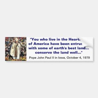 Papa João Paulo II no autocolante no vidro traseir Adesivo Para Carro