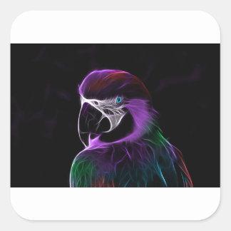 papagaio #2 adesivo quadrado