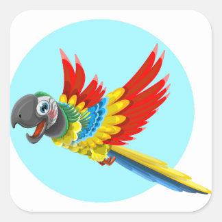 papagaio adesivo quadrado