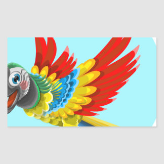 papagaio adesivo retangular