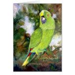 Papagaio amarelo de Cydney Naped Cartao