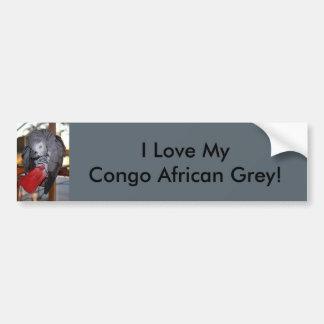 Papagaio flexível do cinza africano de Congo com Adesivo Para Carro
