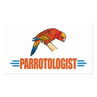 Papagaios engraçados do amor de I Cartoes De Visita