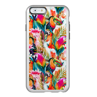 Papagaios & folhas de palmeira capa incipio feather® shine para iPhone 6