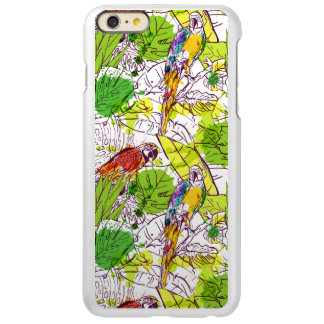 Papagaios tropicais capa incipio feather® shine para iPhone 6 plus
